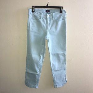 NYDJ Not Your Daughter Jeans Kaelin Skimmer Jacquard Stellar Blue Size 4